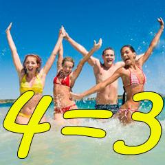 last minute 18-25 giugno piano famiglia 4=3