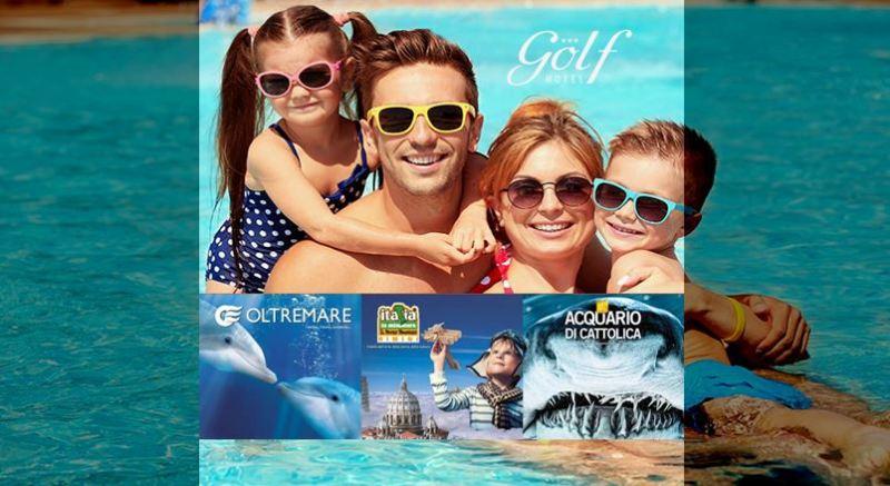 Offerta all inclusive Hotel Riccione e parco tematico Oltremare Aquafan Italia in miniatura
