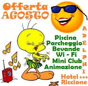 Agosto Hotel Riccione per famiglie con piscina