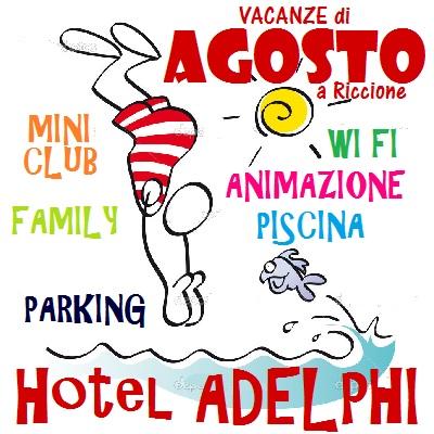 Agosto Hotel Riccione per famiglie con piscina
