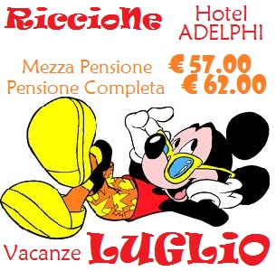 Offerte Hotel con Piscina Riccione Vacanze Luglio per famiglie