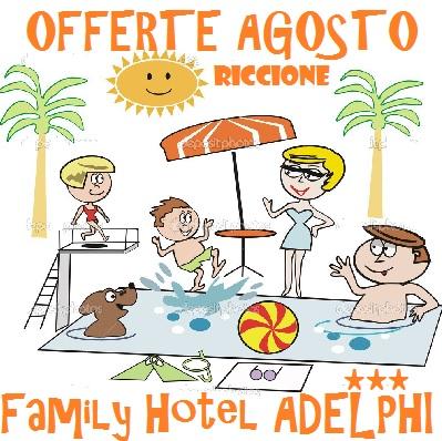 Agosto conveniente Hotel Riccione, Frontemare Piscina, Parcheggio, lastminute