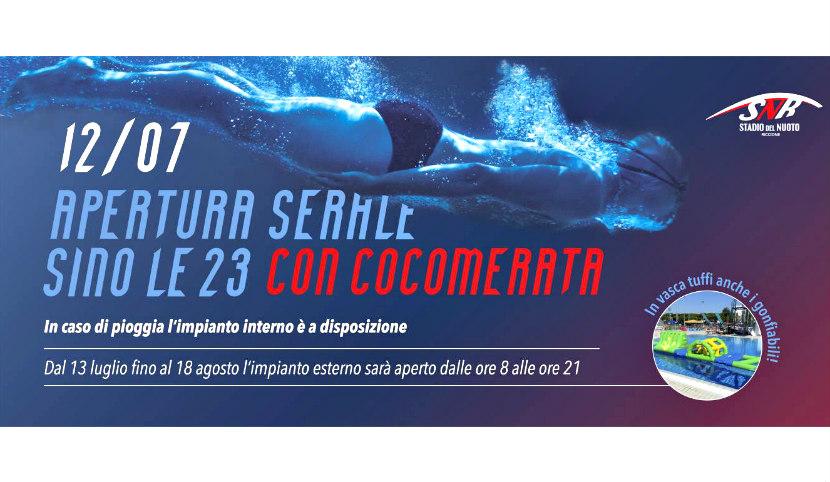 Apertura serale stadio del nuoto Riccione